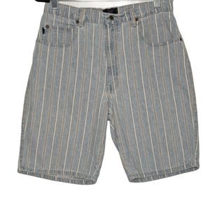 Code Bleu Jeans Vintage Shorts Striped Hi Waist